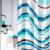 WBCH10-112 White Fox Набор штора и крючки для ванной, Волна 180*200см (10/200)