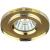 DK7 GD/YL Светильник ЭРА декор стекло круглое MR16,12V/220V, 50W, золото/желтый (50/2100)