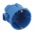 ЭРА Коробка установочная КУТС 68х60мм для твердых стен саморез., стыковочные узлы синяя IP20 (160/32