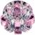 """DK31 CH/WH/PK Светильник ЭРА декор """"корона"""" G9,40W,220V, JCD хром/прозрачный/розовый (50/600)"""