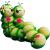 GA200-12 GREEN APPLE Фигурка садовая Гусеницы 31*19*21см (4/32)